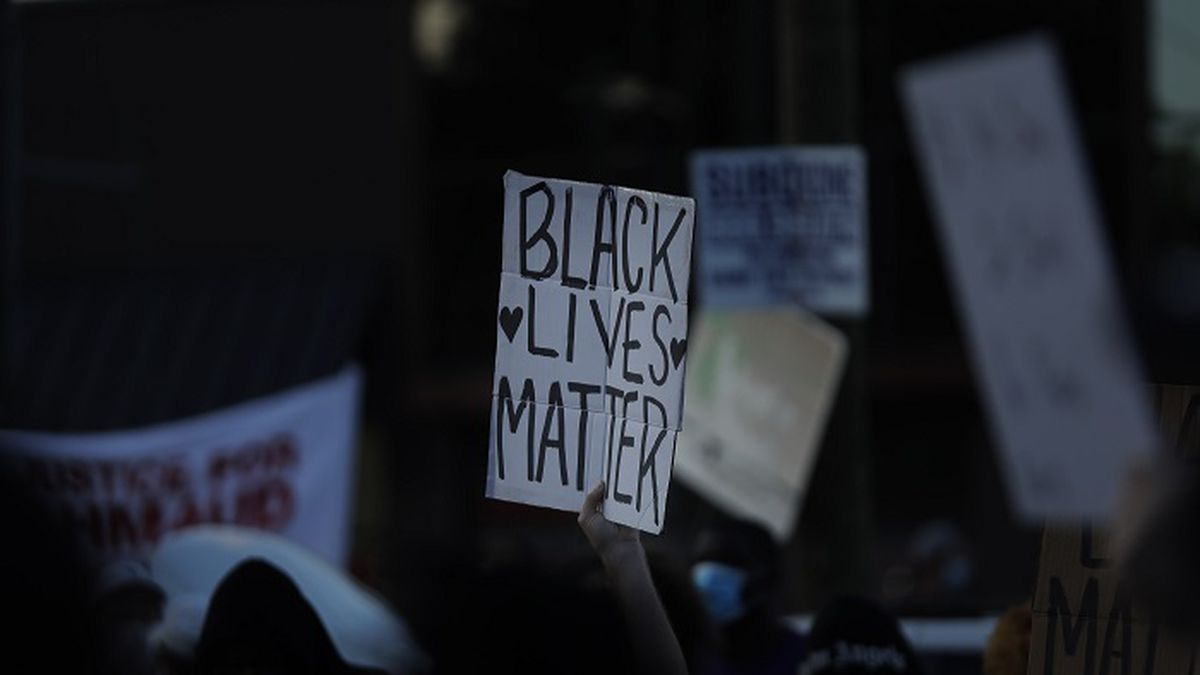 """A """"Black Lives Matter"""" sign is seen during protests on Saturday, June 13,..."""