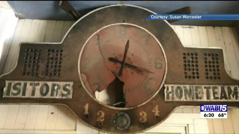 Brownville scoreboard restoration