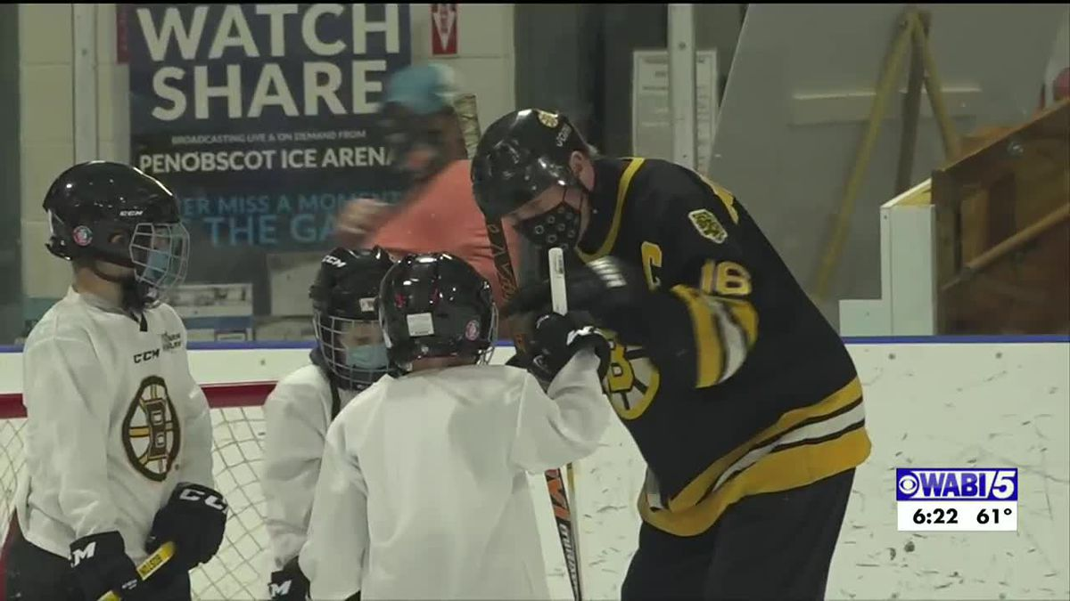 High 5: Bruins great Middleton teaching kids the basics of hockey in Brewer