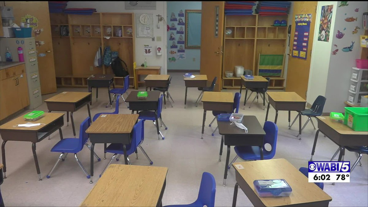 Maine Department of Education recommends isolation rooms for students with COVID-19 symptoms.