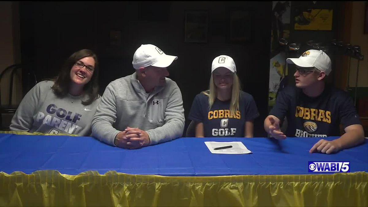 Waterville's Cote signs NLI to golf at division-II Coker University