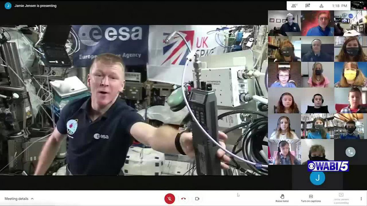 Maine students talk with astronaut on International Space Station