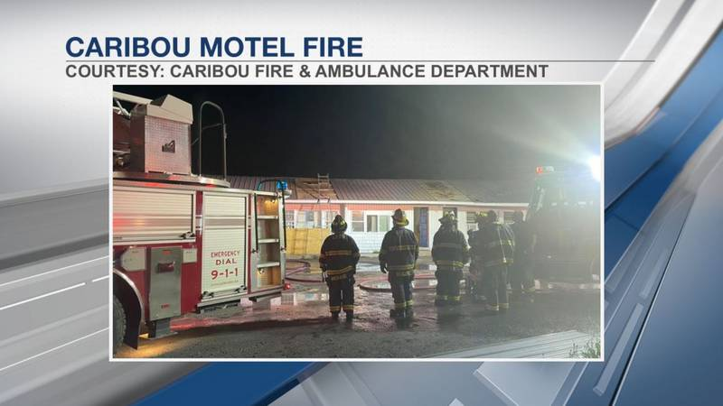 Attic fire at Riverside Motor Court in Caribou