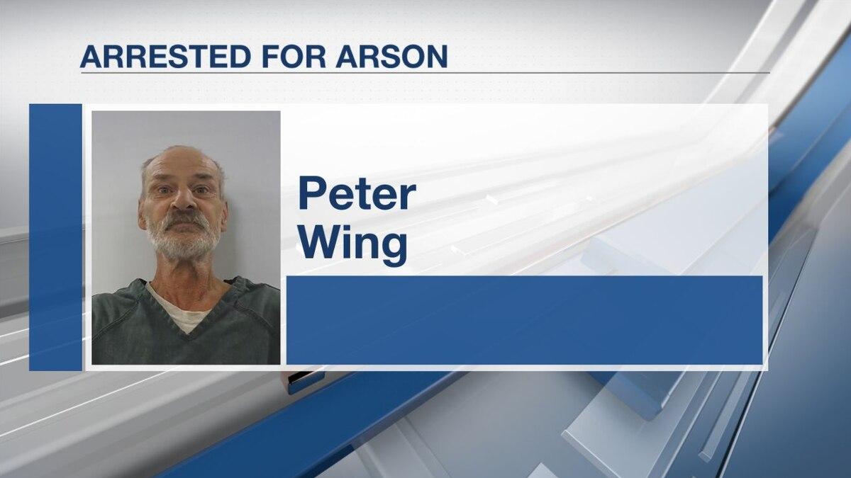 Augusta man arrested for garage fire.