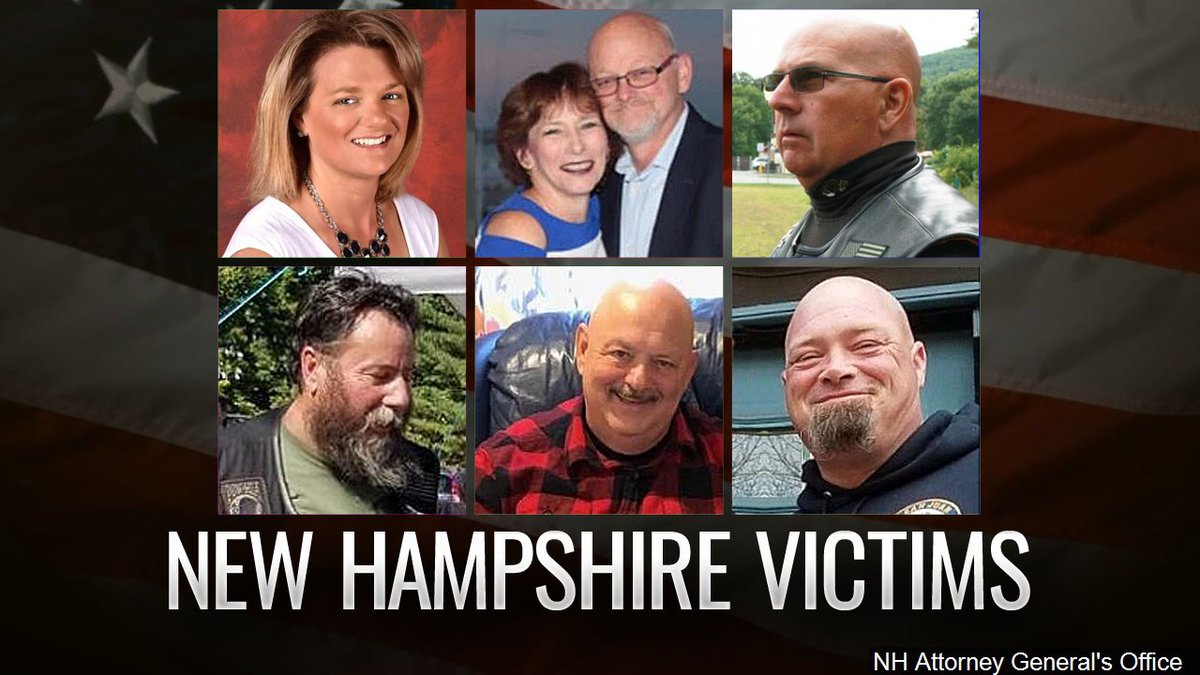 Officials in New Hampshire have released the names of the seven people killed in a motorcycle...