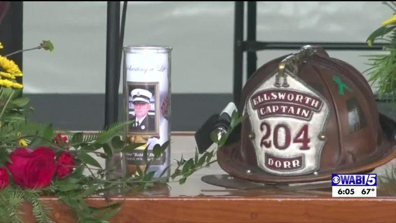 Memorial service held for Ellsworth Deputy Fire Chief.