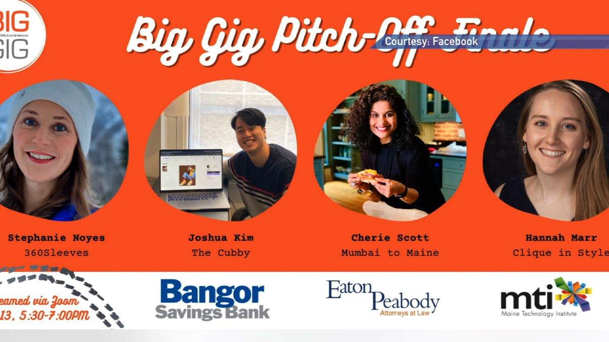 Four Maine entrepreneurs compete for $5,000 prize.