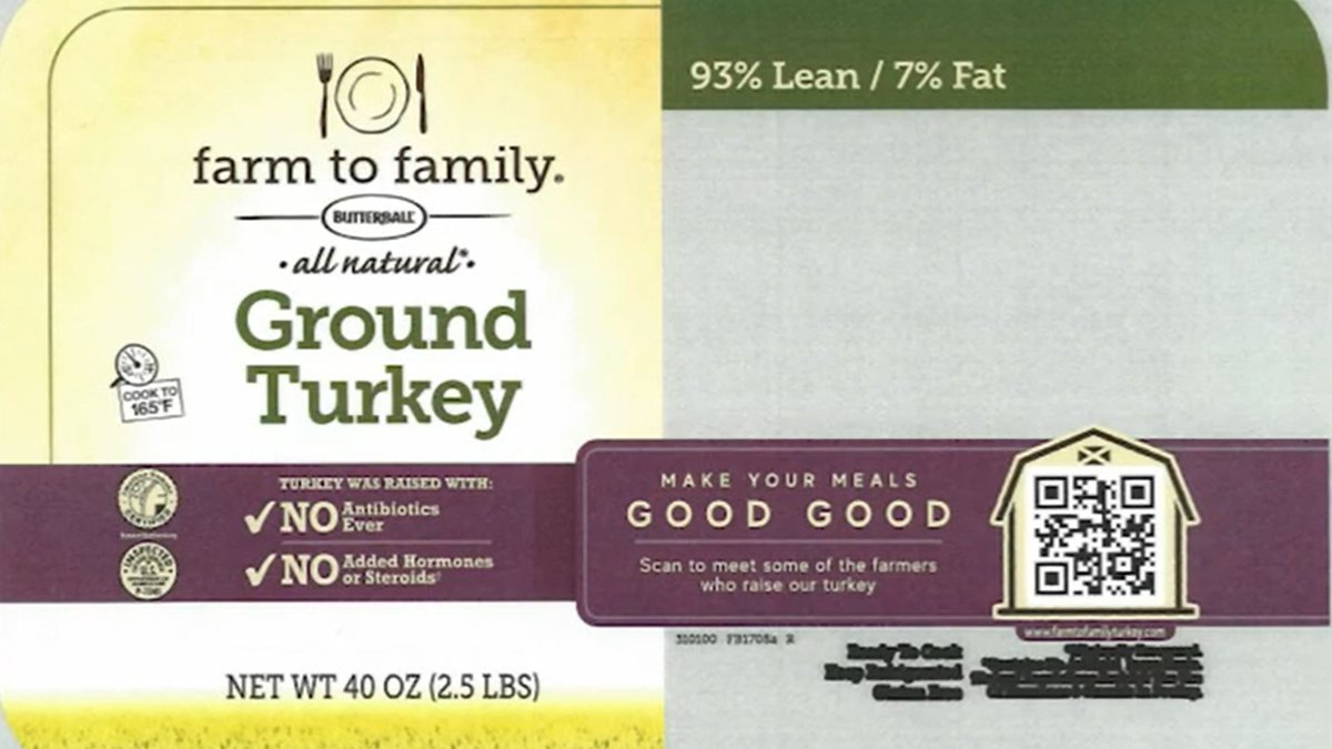 The Butterball recall affects more than 14,000 pounds of ground turkey sold in BJ's and Kroger...