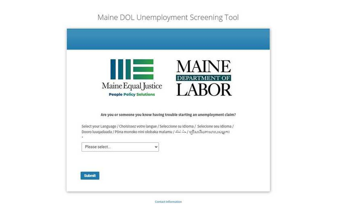 Maine Department of Labor unemployment claim