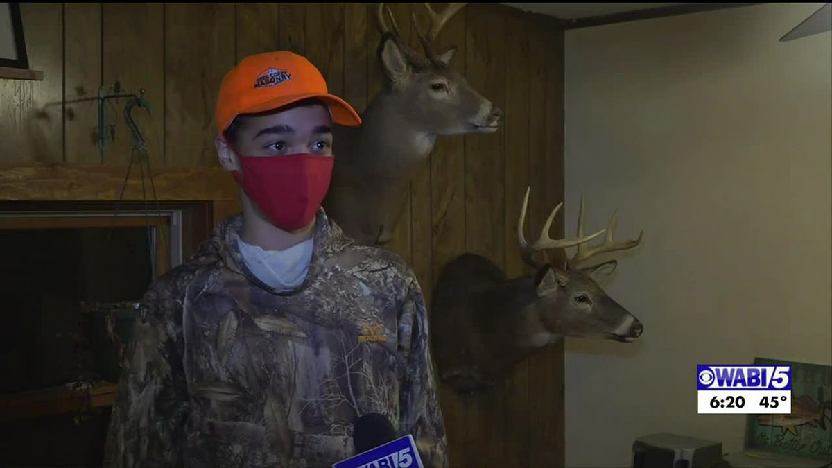 Jackson 15-year-old earns Maine hunting grand slam this fall with help from his family