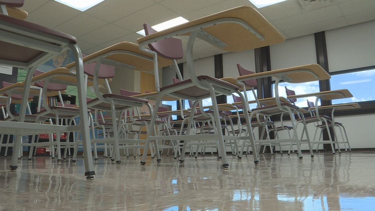 Some schools are waiting for desks to arrive.