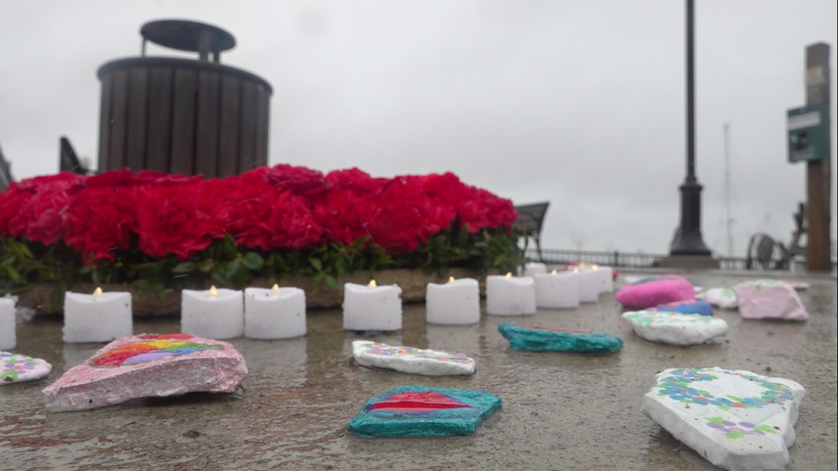 Belfast community honors those who lost their lives to COVID-19.