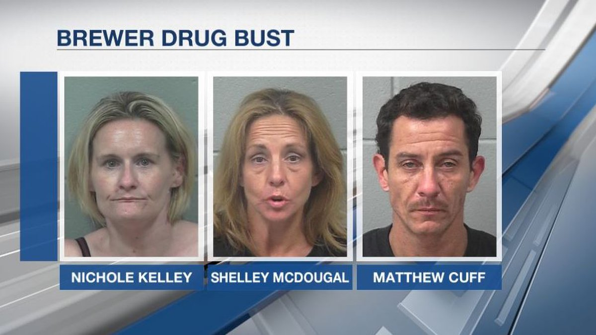 Three of the four individuals arrested this week in connection with drug trafficking.