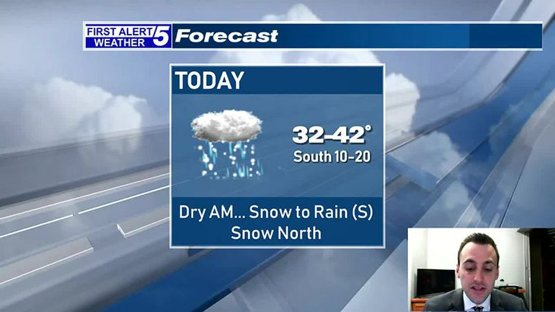 Increasing Clouds With Rain & Snow Developing This Afternoon
