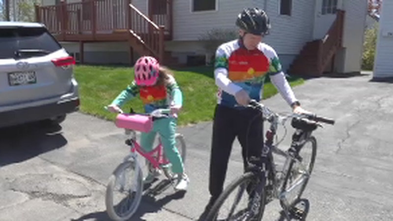 The virtual fundraiser lets participants bike at their own pace.