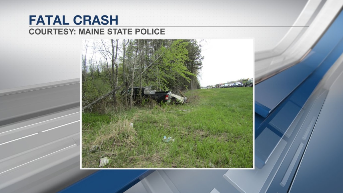 Maine State Police respond to crash in Sidney.