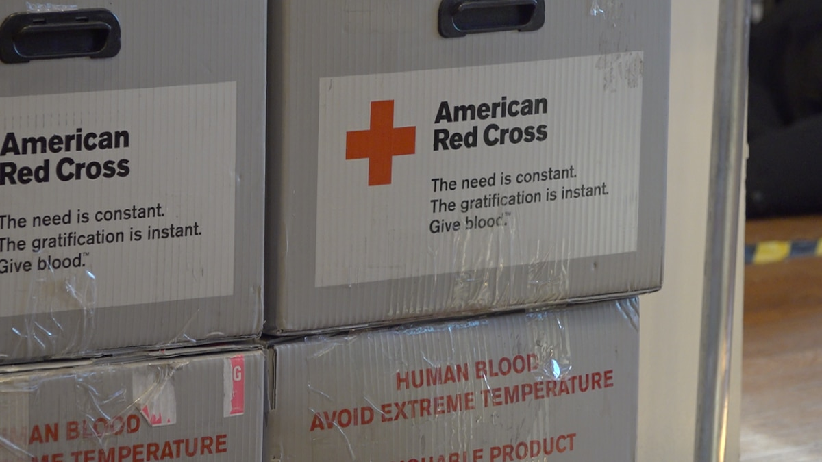 Red Cross blood drive in Waterville.