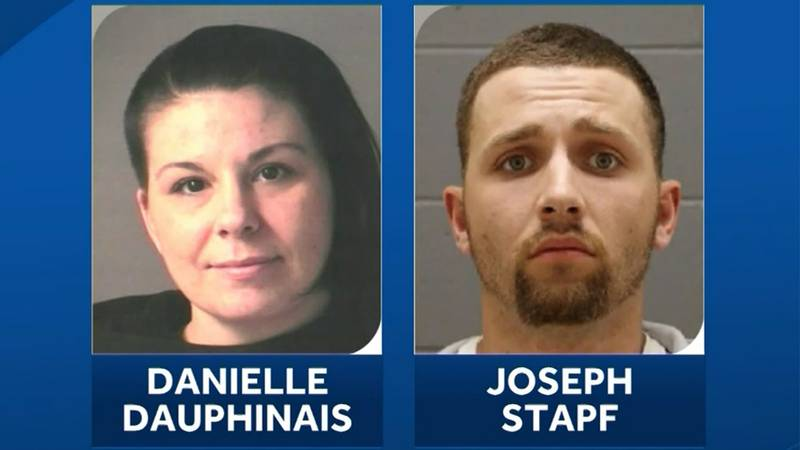 Danielle Dauphinais and Joseph Stapf were arrested in the Bronx, N.Y., on Sunday in connection...