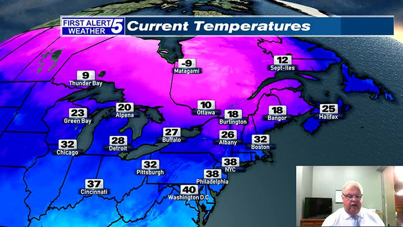Frigid Tonight & Wednesday, Snow Thursday, Steadiest South