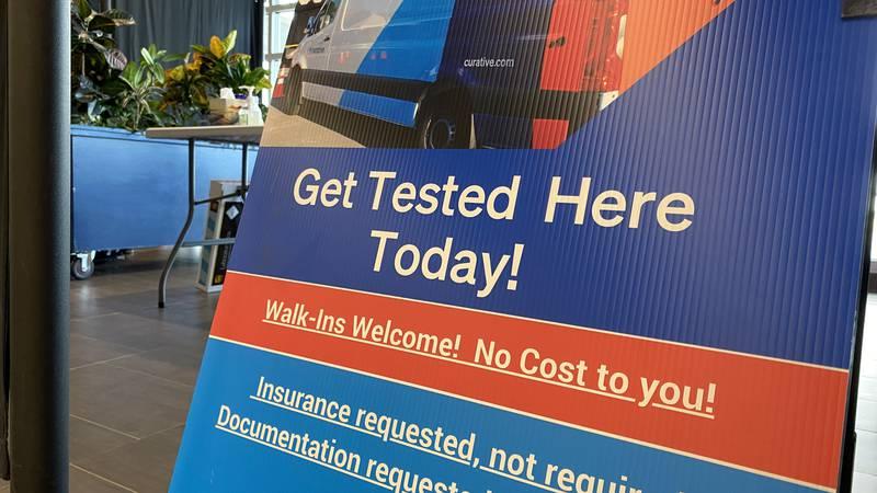 COVID testing site opens at Bangor International Airport.