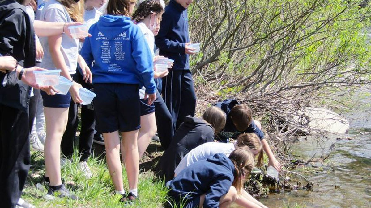 The local fish population is on the rise thanks to some area 7th graders.