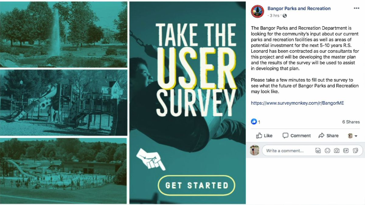 Bangor Parks and Recreation wants your feedback.