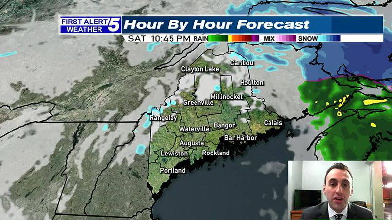 Rain & Snow Ends This Evening, Clearing Skies Late