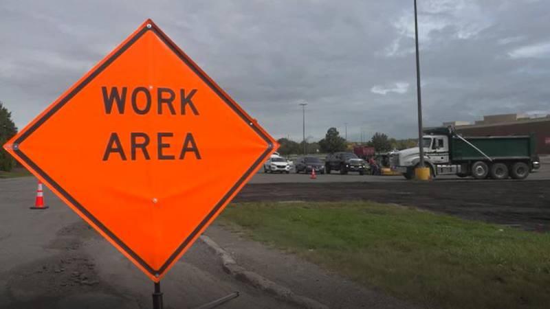Work underway to improve road conditions.