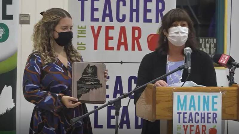 Kelsey Stoyanova or Reeds Brook Middle School in Hampden is Maine's Teacher of the Year.