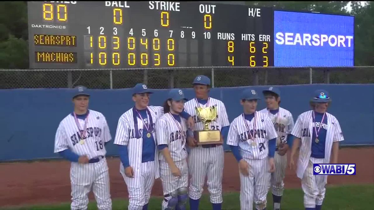 Searsport weathers the storm, Machias for 5th class D baseball title in 6 seasons