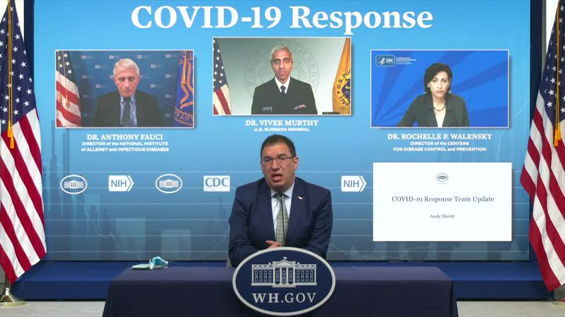 White House COVID-19 adviser Andy Slavitt announced that the government is going to 'monitor,...