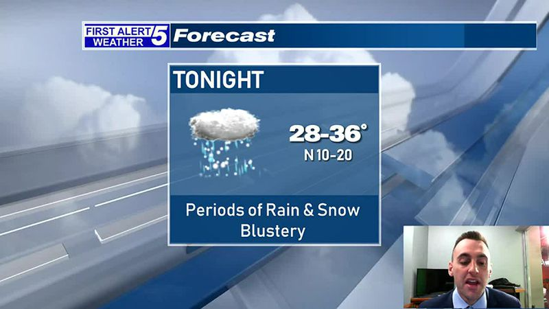Blustery With Periods of Rain & Snow Tonight