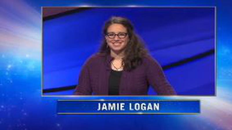 """A writer, Logan says being on """"Jeopardy!"""" was something she had been preparing for as long as..."""