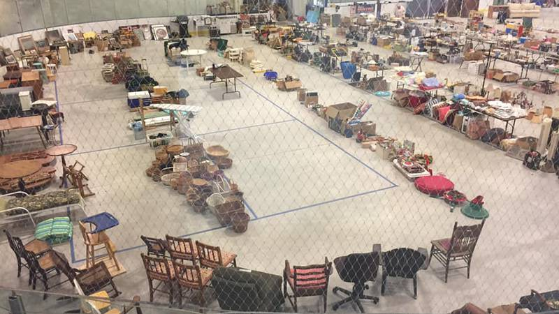 West Bay Rotary collected so many items this year, they moved the yard sale to the ice rink in...