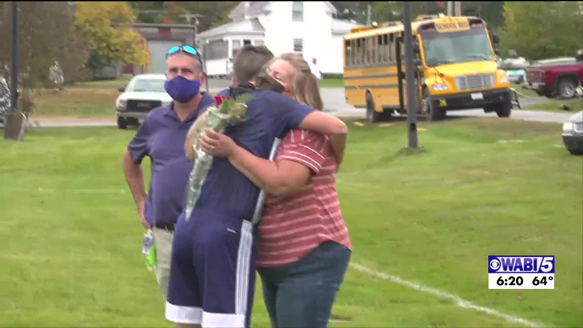 Penquis Valley's Mills celebrates senior game five years after beating Cancer