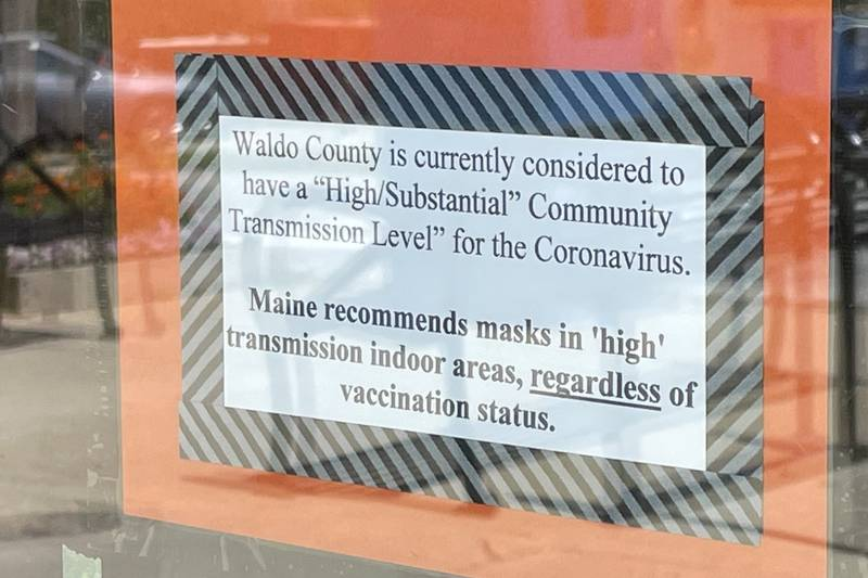 """Maine officials said this week that residents of counties with """"high"""" or """"substantial""""..."""