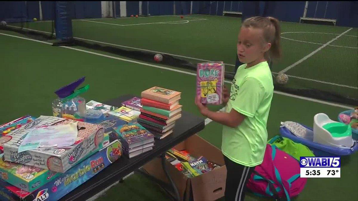 Kids hosting yard sale for Field-4-Kids in Bangor