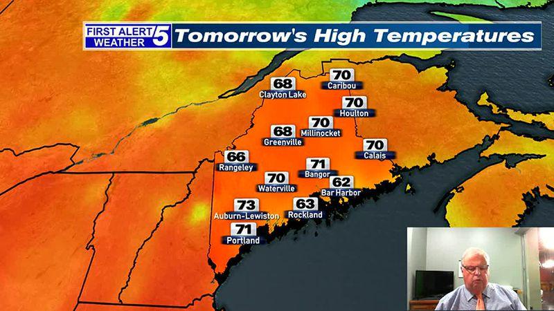 Fair & Mild Tonight, Bright & Unseasonably Warm Tomorrow