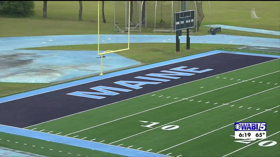 UMaine football gets first workout on new turf