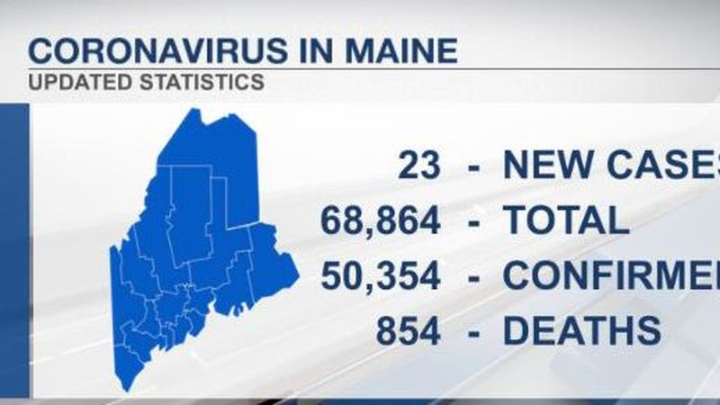 Latest coronavirus cases submitted by the Maine CDC