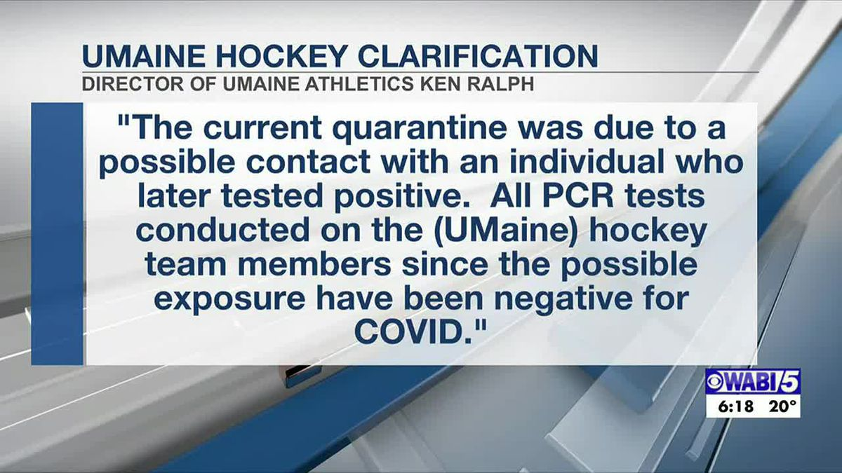 UMaine men's hockey team has had no positive PCR tests since possible exposure to COVID-19