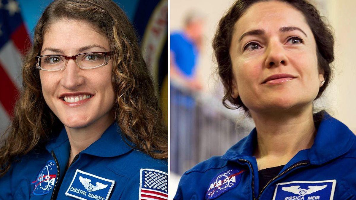 Christina Koch and Jessica Meir (Photo: NASA; Photo: NASA / Beth Weissinger)