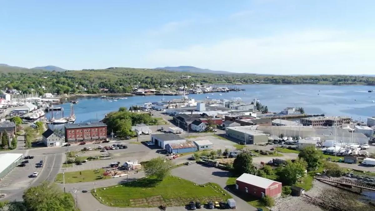Aerial shot of Rockland Harbor