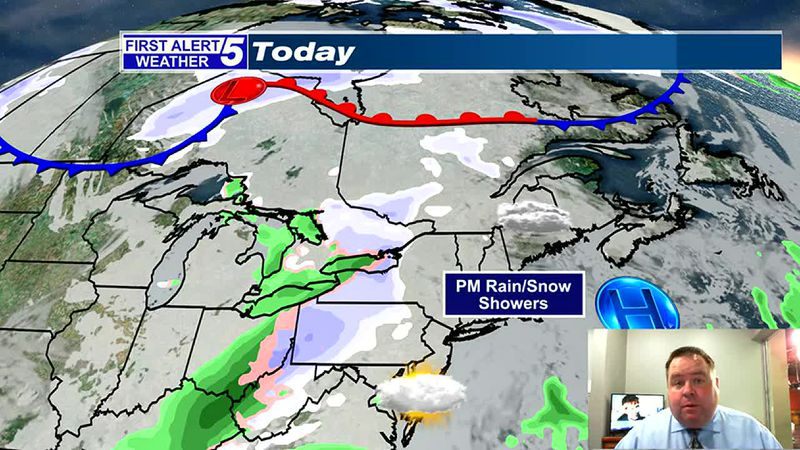 Mostly Cloudy Today, Late Day Rain/Snow Showers Likely